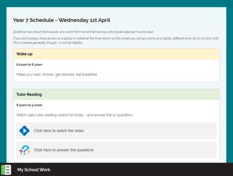 greenshaw schedule 1