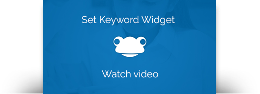 Link to the Set Keyword widget video guide